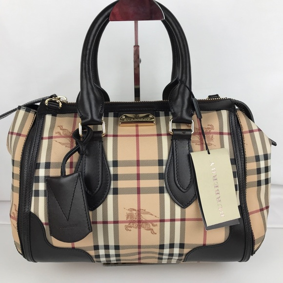 260554788046 Burberry Plaid Gladstone Chocolate Tote 3870759